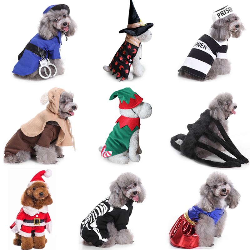 Halloween Pet Dog Clothes For Dog Christmas Costumes For Chihuahua Winter Dog Coat  Pet Clothing For Small Dogs Cats Clothes
