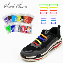 10sets/pack 8 size Creative Lazy Silicone Ealistic Shoelaces Leisure Running Sports Shoe Laces Fit All Seasons
