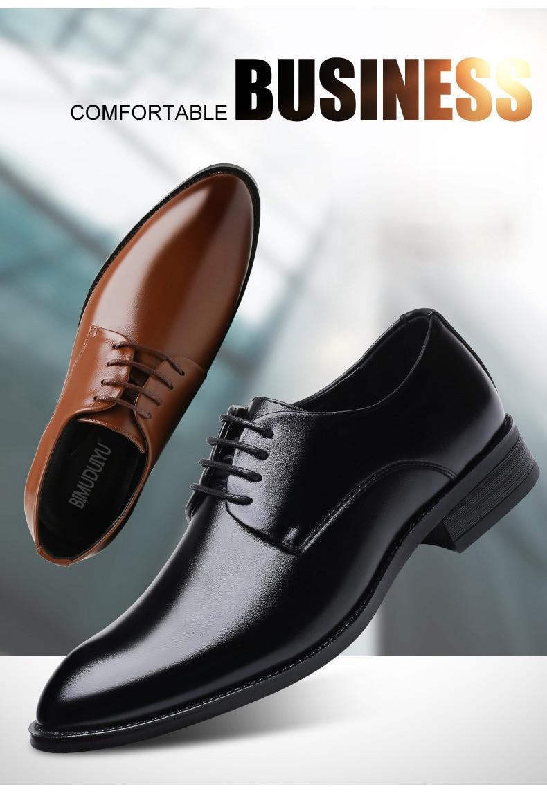 a7b5b130b2b BIMUDUIYU de lujo de marca clásica de Hombre Zapatos de vestir de punta  estrecha de charol para Hombre Zapatos de boda negros Oxford Formal de gran  tamaño