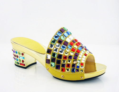 ФОТО yellow!good quality African sandals for party,latest pattern ladies shoes for free shipping! HK1-5