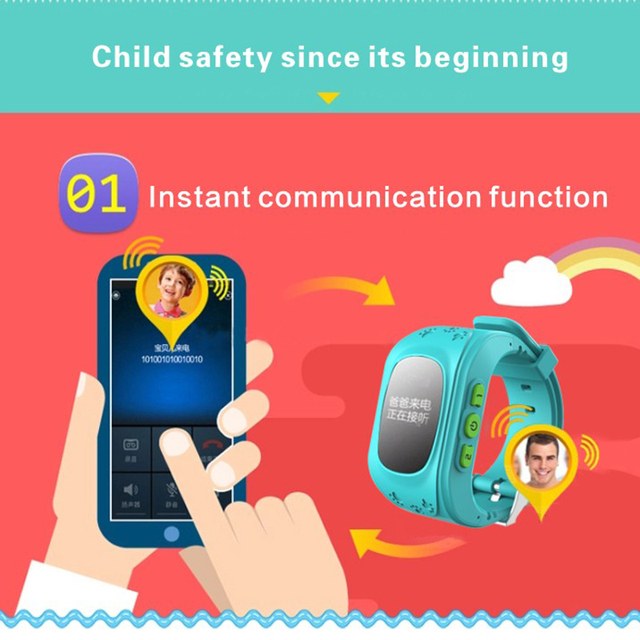 Newest Q50 Kids Smart Wristwatch Kid Safe GPS Track Smart Watch SOS Call Location Finder Locator Tracker Baby Anti Lost Monitor 3
