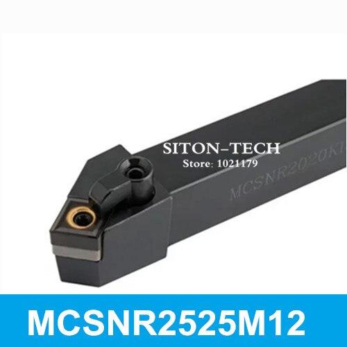 Hohe Qualität MCSNR2525M12 Metall-drehbank-schneidwerkzeuge CNC Drehwerkzeug 25mm * 25mm * 150mm Externe Drehwerkzeug MCSNL2525M12