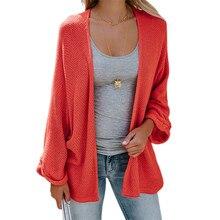 Spring Autumn Plus Size Female Thin Red Sweater Coat Bat Sleeves Loose Solid Cardigan Roupas Feminina Yellow Red Black Sweater