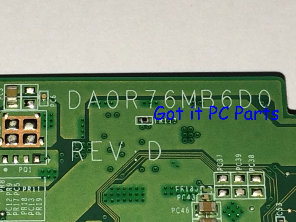 NEW !!! Free Shipping 726633-501 DA0R76MB6D0 REV : D Laptop Motherboard For HP Pavilion 17-e series Notebook PC