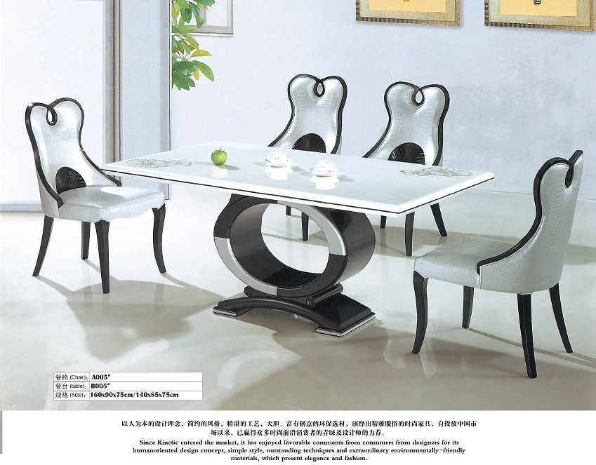 High Quality Marble Dining Table And 4 Chairs 0446 A005