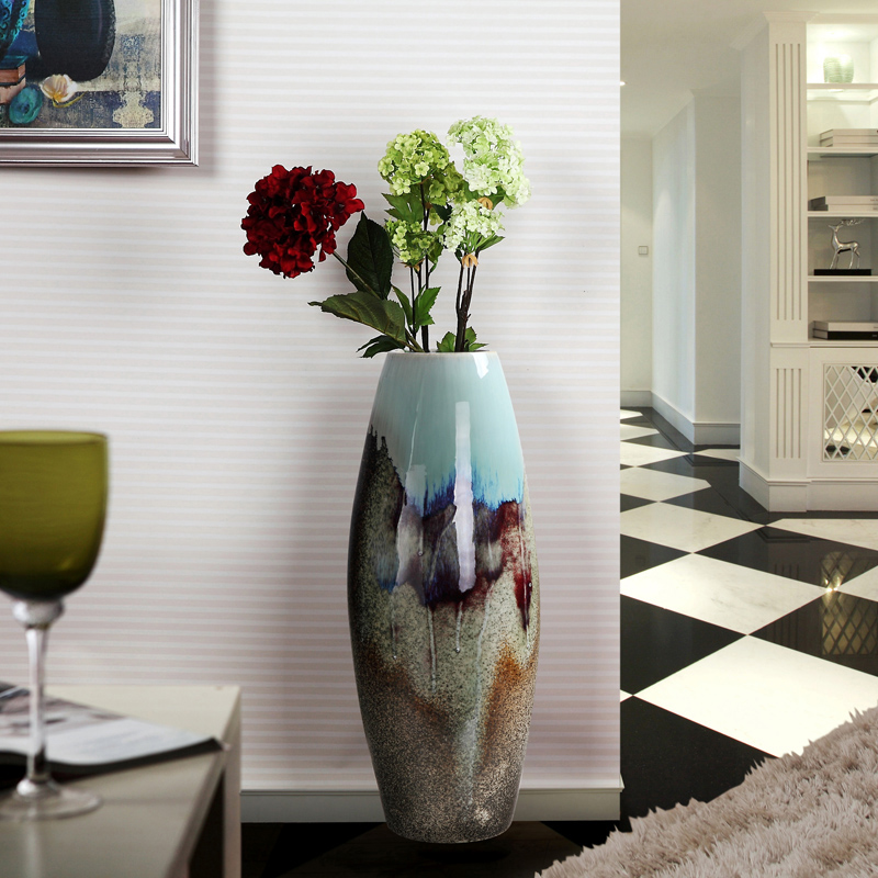 Ceramic Fashion Modern Large Floor Vase Home Accessories Crafts