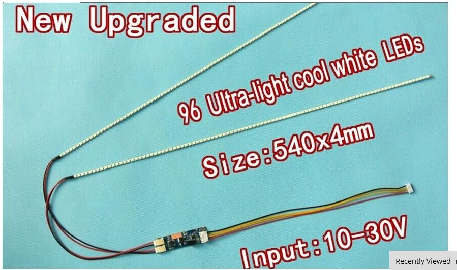 5pcs 540mm Adjustable Brightness CCFL Led Backlight Strip Kit,Update 24inch Lcd Monitor To Led Bakclight