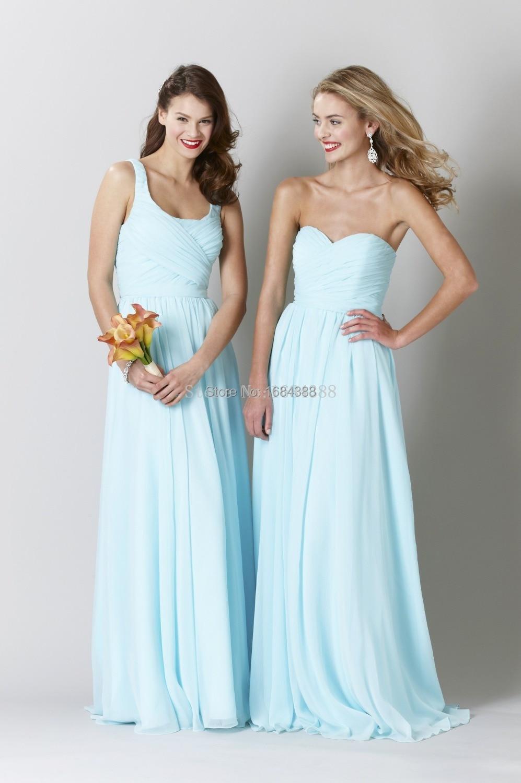 634adc9112 2015 Free Shipping Light Blue Beach Bridesmaid Dress Sleeveless ...