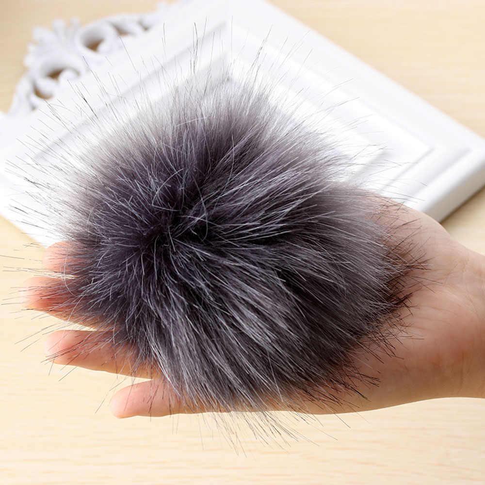 1Pcs New Hot Unisex Women Men Faux Raccoon Fake Fur Hair Ball Fluffy Pompom Hat Clothing Bag Shoes Cap Accessories Decoration