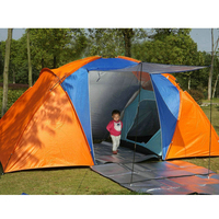 5 8 Person Large Camping Tent Double Layer Waterproof Two Bedrooms Travel Tent for Family Party Travel Fishing 420x220x175CM