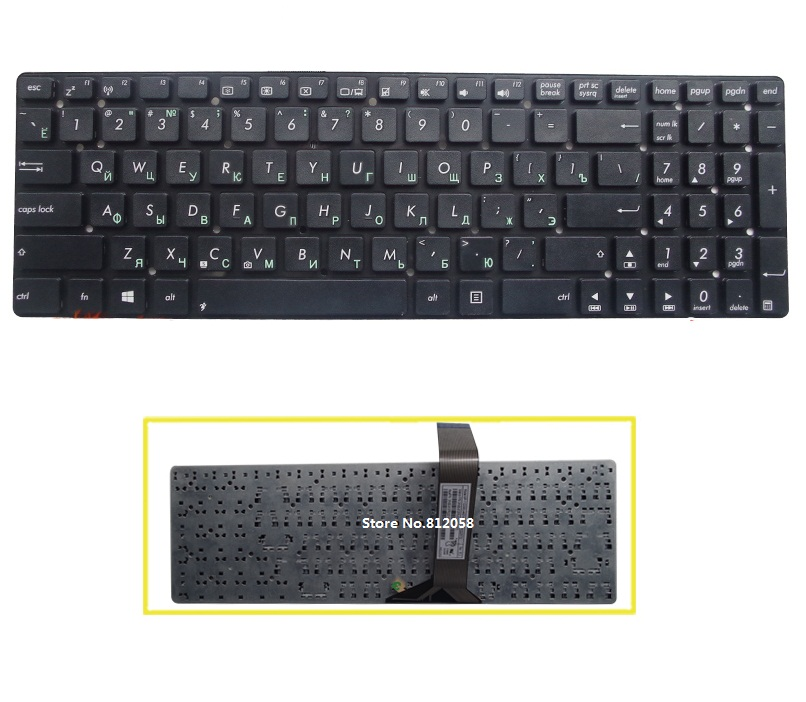 SSEA New Russian <font><b>keyboard</b></font> for <font><b>ASUS</b></font> A55V A55VD K55 K55A K55V <font><b>K55VJ</b></font> K55VM K55VS K55VD K55XI K55DE R500v R700V RU <font><b>keyboard</b></font> NO frame image