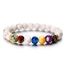 ФОТО 1 pcs fashion style 7 chakra healing beaded bracelet natural lava  diffuser bracelet for men women best friend hot ns8