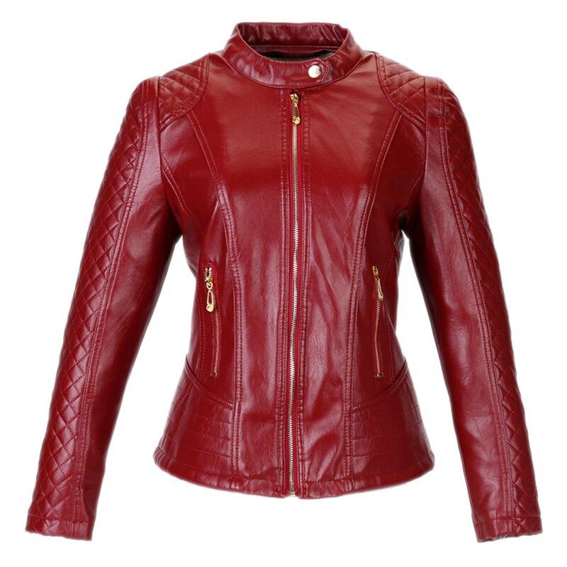 Plus Size Leather Jacket