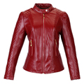 2016 New Women Leather Jacket Long Sleeve Slim PU Outwear motor Leather Soft Jacket Red Plus Size Women Coat wz211