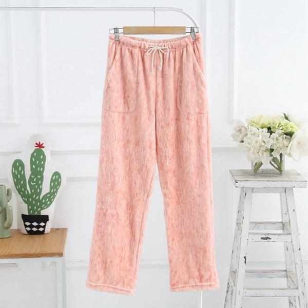 Pajama Pants Sleep Bottoms Woman Lounge Wear Products Winter Flannel Pyjama Trousers Women Sleepwear Q1233