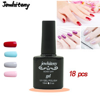 10ml 18 piecesNail Polish Gorgeous Color Nail Gel Polish Vernish Semi Permanent Gel Lacquer Soak Off Nail Varnishes Gel polish