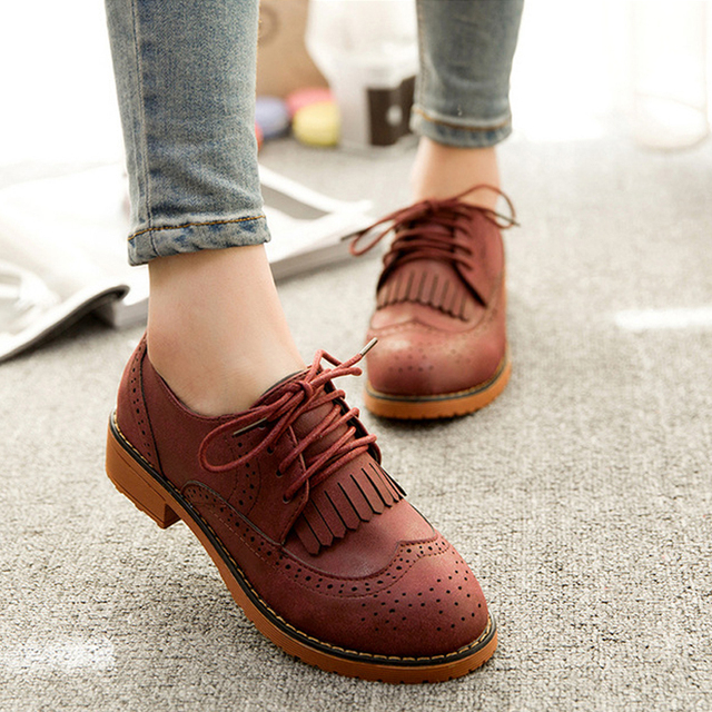 Zapatos de punta redonda casual para mujer EFjN8IR5s