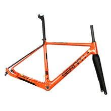 SERAPH new gravel bike orange BSA/BB30 carbon fiber frame 700C carbon frame GR029