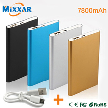ZK90 Metal Slim Power Bank 7800mAh USB External Backup Battery Portable Charger PowerBank For Universal SmartPhone