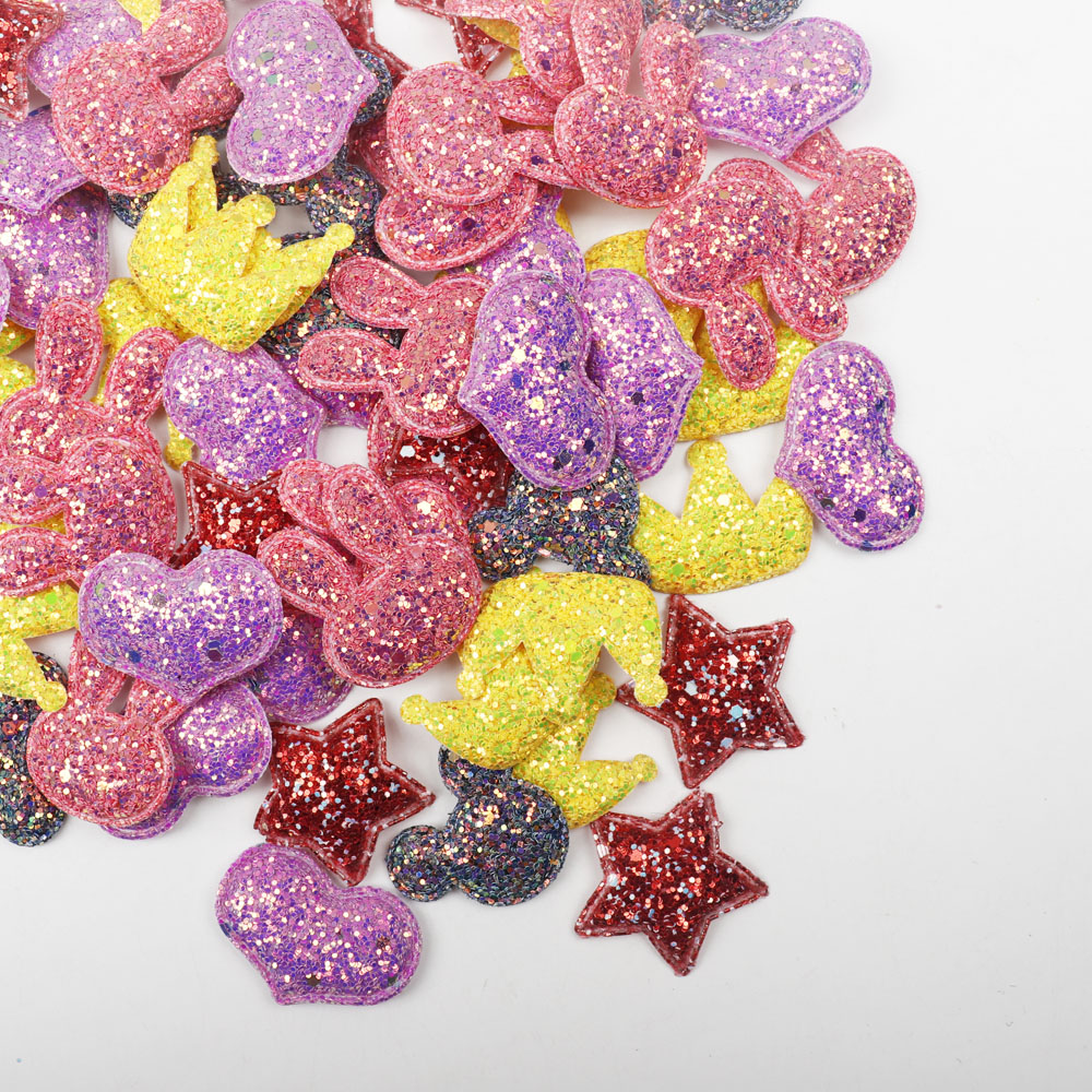 72acf8db47 US $1.53 5% OFF|Aliexpress.com : Buy ibows Star Sequin Patches Chunky  Glitter Appliques for Clothes Sewing Supplies DIY Craft Ornament Hair Bow  ...