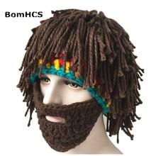 COOL Party Cap Mens Head Barbarian Vagabond Beard Beanie Horn Hat Handmade Winter Warm Birthday Gift