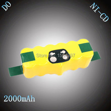 Free 14.4V NI-CD 2000mAh Rechargeable Battery Pack Replacement for iRobot Roomba 510 520 530 550 560 610 780 770 80501