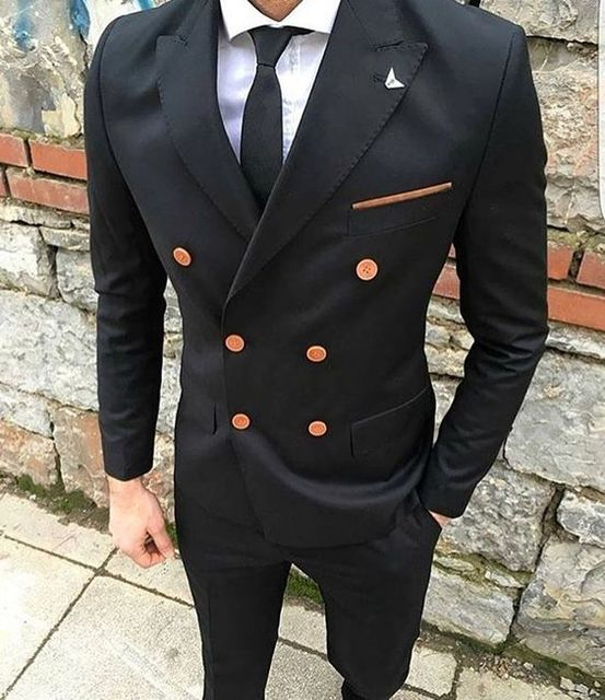 2017 Pantalones hombres traje prom novio chaqueta de esmoquin slim fit  estilo Trajes encargo 2 unidades c492d310a313