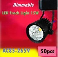 Dimmable Track Lighting Rail Light 15W COB Clothing Shoe Shop Black White Track Lights LED Rail
