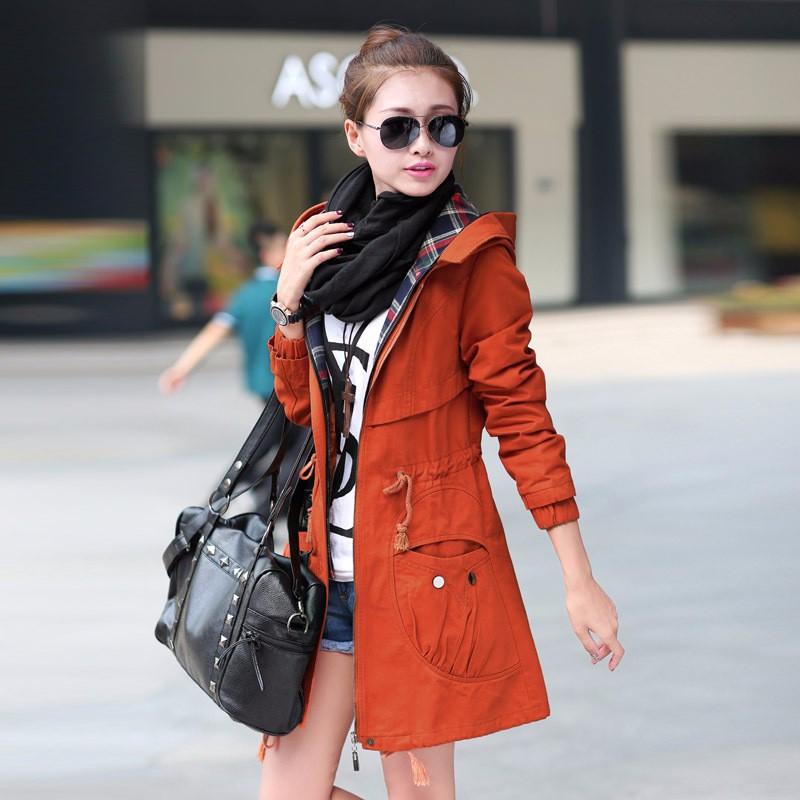 2016 Fashion Women Trench Coat Autumn Female Casual Windbreaker Coat Outwear Plus Size Jacket 2016