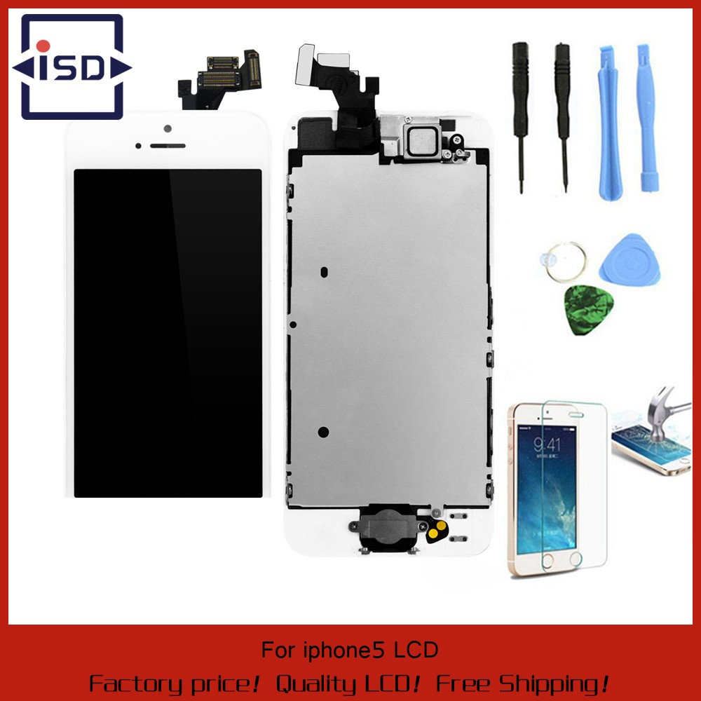 White-Full-Front-Touch-Screen-Digitizer-LCD-Display-Repair-Assembly-Replacement-for-iPhone-5-LCD-Display
