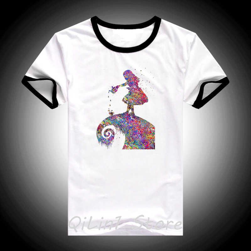 Kobiety ubrania 2019 akwarela alicja w krainie czarów printes t koszula kobiet harajuku kawaii koszulka femme vogue koszulka tumblr