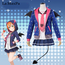 La MaxPa lovelive love live Unawakened koakuma Rin Hoshizora cosplay Japanese anime costume girls mujeres demonio diablo navidad