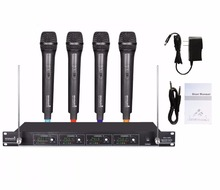 STARAUDIO SMV-4000A Skilled VHF Wi-fi Microphone System w/ four Handheld  Microphones for  Stage Church Household Social gathering