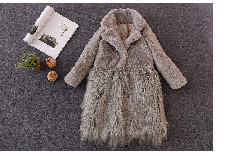 2017 Little Girls Fur Coats Windbreaker Tassel Outerwear Overcoat Roupas da menina Long Sleeve Trench Coat  Winter jessica simpson little girls kenzie graphic with pleather sleeve