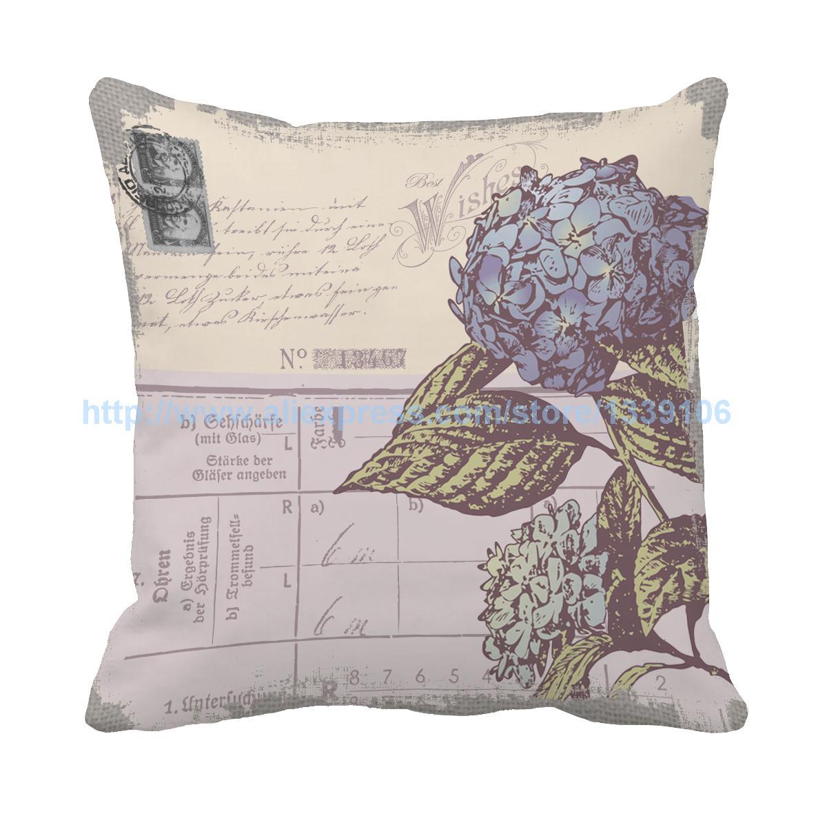 Estilo Europeo vintage flor cojín para sofá cama decoración del