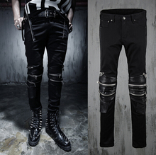 NEW 2015 Men s Nightclubs costumes pants right Zhilong with models hair stylists fight skin fashion
