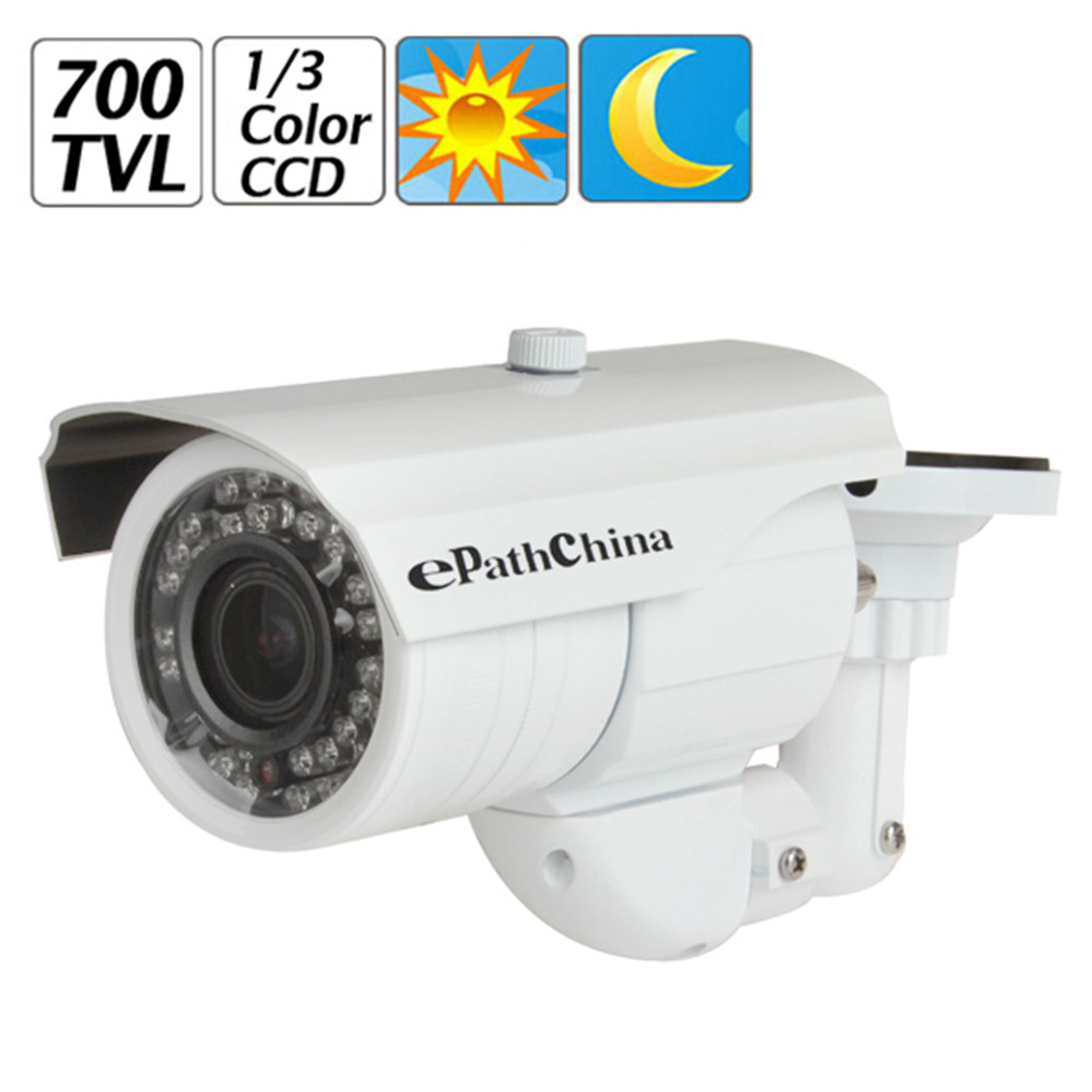 EPathChina 700TVL 2,8 ~ 12mm Vario-objektiv 36 IR LED Infrarot Wasserdichte Sicherheit...