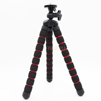 1PC Octopus Flexible Tripod With 360 Rotating Ball Head 1 4 20 Camera Mount And Rubber
