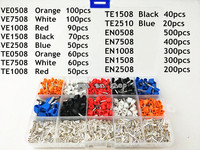 2340pcs Lot Mixed 15 Models Dual Bootlace Ferrule Kit Electrical Crimp Crimper Cord Wire End Terminal