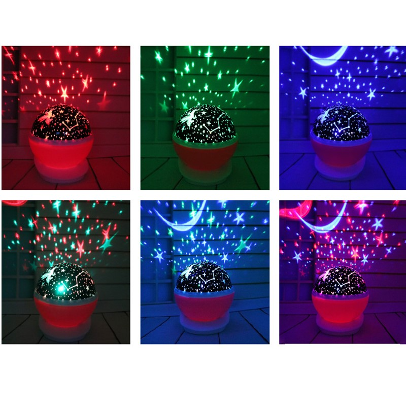 Image 2 - Rotating Night Light Projector Lamp Starry Sky Star Unicorn Children Kids Baby Sleep Romantic Led Projection Lamp USB/AA Battery-in LED Night Lights from Lights & Lighting