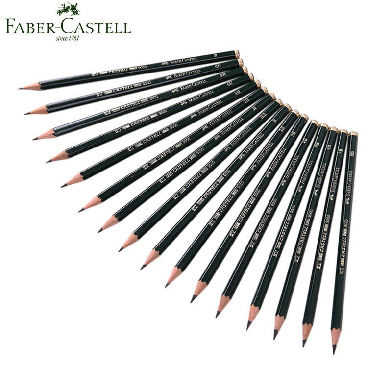 Faber Castell 16Pcs Sketch Drawing Pencils Standard Pencils 6H-8B for drawing writing shading sketch Black Lead art supplies kitdix13058unv20630 value kit ticonderoga groove pencils dix13058 and universal perforated edge writing pad unv20630