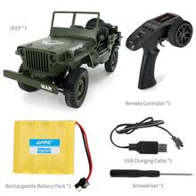 1:10 Classic RC Military Jeep 2.4G 4WD Remote Control Off-road Army Car Transporter-6 Vehicle Model Cars Toys with Front LED цена в Москве и Питере