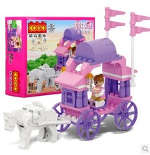 COGO Girls Series Carriage 3270 Building Block Sets for Girls 62pcs Educational DIY Bricks Toys for