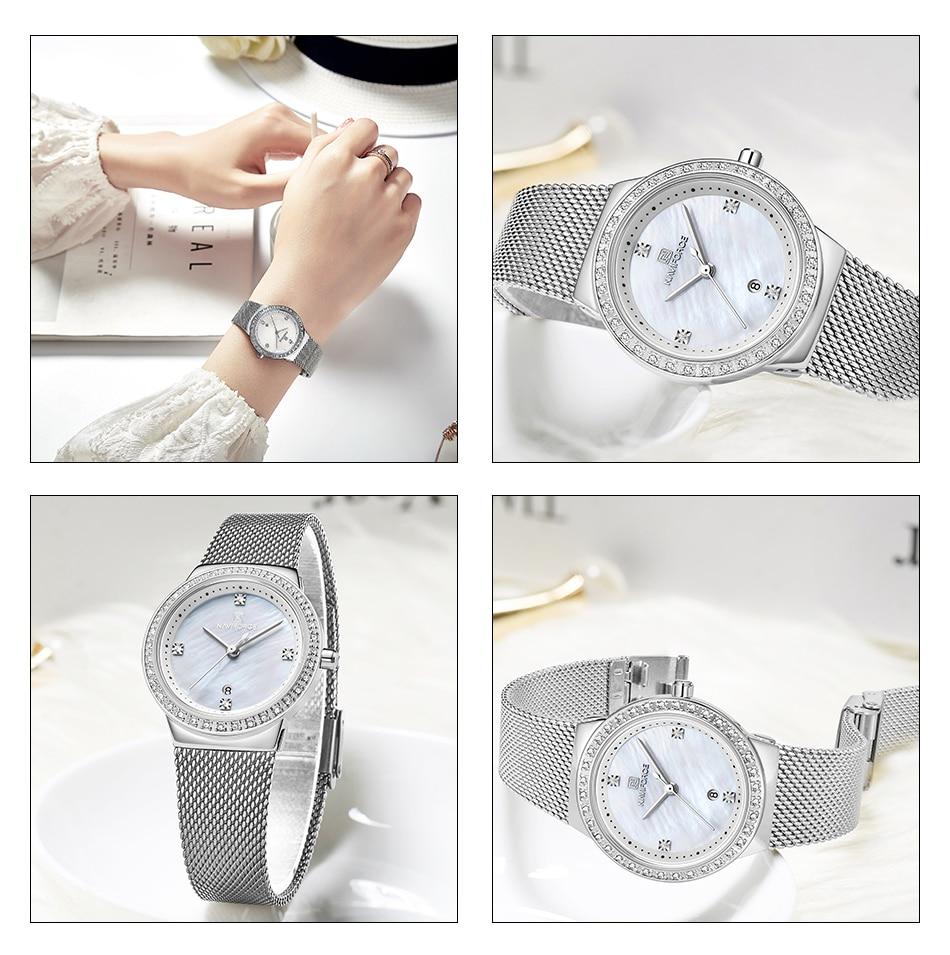 NAVIFORCE New Rose Gold Women Watch Business Quartz Watch Ladies Top Brand Luxury Female Wrist Watch Girl Clock Relogio Feminin (9)