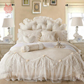 Free shipping Korean princess bedding sets for wedding decor 100% cotton lace duvet cover Bedspreads Pillowcase 4pcs/lot SP2051