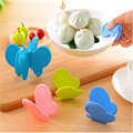 Kitchen Dishes Silicone Oven Heat Insulated Finger Glove Mitt Cute Cooking Microwave Non-slip Gripper Pot Holder ma