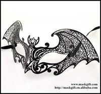 MG003 BK Free Shipping Bat Man Mask Design Venetian Metallic Laser Cut Halloween Masquerade Ball Masks