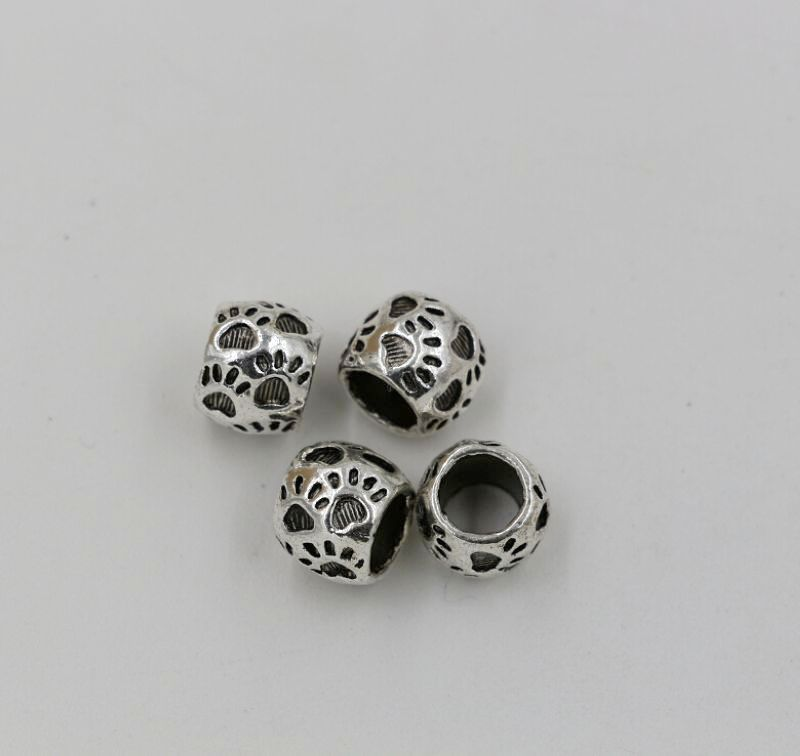 100pcs Copper Tone Flower Spacer Beads H1940
