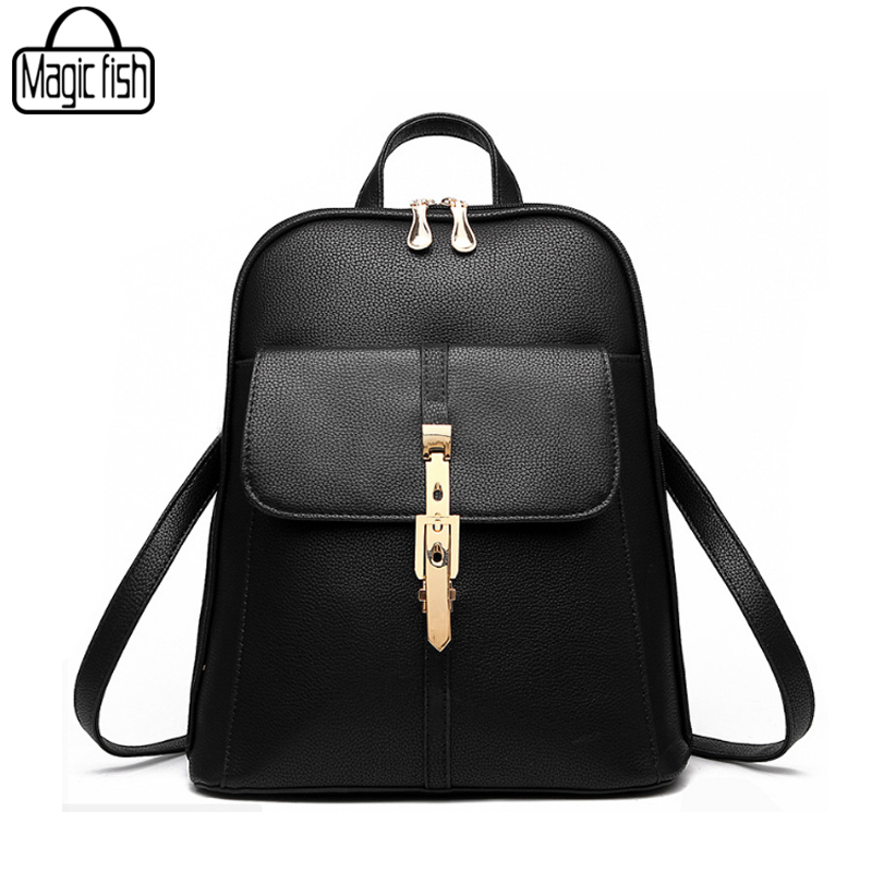 New 2018 High Quality Women's Backpack Famous Brands Fashion Lady Leather Backpack School Backpacks For Teenage Girls C0087/l