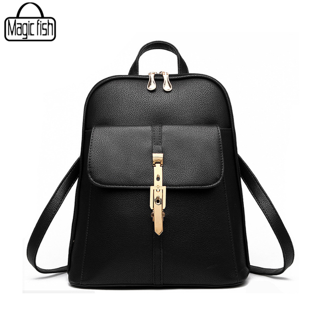 New 2018 High Quality Women s Backpack Famous Brands Fashion Lady Leather  Backpack School Backpacks For Teenage 8fa7263891e67